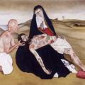 nna Gartner Tattoed Jesus Pietà, 2005 Öl und Acryl auf Leinwand 137,5 x 244 cm Foto: Achim Kukulies, Düsseldorf Courtesy Olbricht Collection © Marianna Gartner